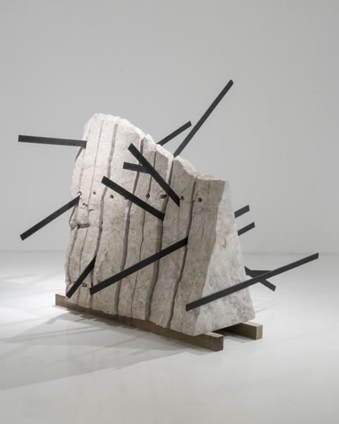 Michele Mathison, Intrusion, 2017, Steel and marble (Namibia), 230 x 130 x 123cm